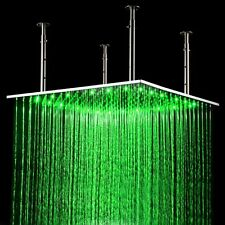 24'' LED SS304 Ceiling Rain Headshower Temperature Control in Brushed Nickel