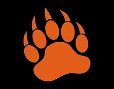 "BEAR CLAW GRIZZLY VINYL WINDOW DECAL ORANGE 5"" CAR TRUCK VAN JDM MANY COLORS"