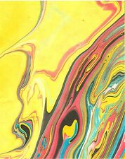 20 Sheets Psychedelic Mulberry Paper in 2 Sizes /Scrap Book/Decoupage/DIY 10/12