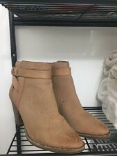 Dolce Vita Ladies Ankle Beige Leather Boots Size 7M