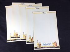 5 Yuengling Lager Beer Menu Sheets Cone Top Can New Old Stock