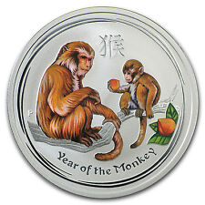 2016 Australia 1/2 oz Silver Lunar Monkey Colorized BU - SKU #96630