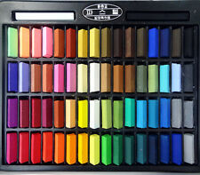 Mungyo Non Toxic Soft Pastels Set Assorted 64 Colors Vivid Half Size For Artists