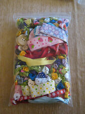 XTRA LGE Bag of Asstd Appliques - Ribbon, Roses, Bows, Buttons, Flowers,Trims...