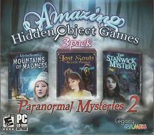 LOST SOULS ENCHANTED PAINTINGS Hidden Object PARANORMAL MYSTERIES 3 PACK PC NEW