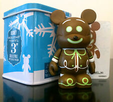 "DISNEY VINYLMATION 3"" A VERY MERRY GINGERBREAD MAN MICKEY CHRISTMAS HOLIDAY TIN"