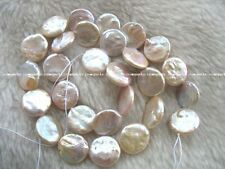"""freshwater pearl purple coin 13-14mm 15"""" nature beads wholesale unique"""
