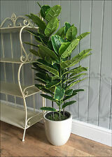 Artificial Plant LARGE 90cm Rubber Ficus Tree Bush Pot Plant Realistic Plastic