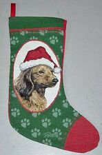 Long Haired Dachshund Tapestry Christmas Stocking