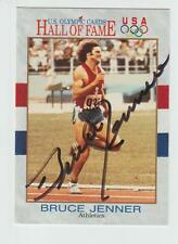 """BRUCE """"CAITLYN"""" JENNER AUTOGRAPH 1991 IMPEL HALL OF FAME PROMO CARD SIGNED"""