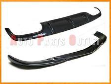 08-11 W204 C300 C350 4Dr Carbon Fiber C63 Look Rear Diffuser + Front Bumper Lip