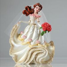 "Disney Beauty and the Beast Belle Couture de Force (Bride) 8"" Tall new Gemmed"