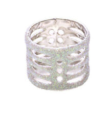Cute Ladies Retro Inspired Unqiue Baby Blue  Glitter Encrusted Ring (Zx58)