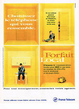 PUBLICITE ADVERTISING 124  1998  FRANCE TELECOM   forfait LOCAL