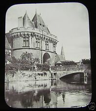 GWW Glass Magic Lantern Slide HOTEL DE VILLE VENDOME C1890 FRANCE
