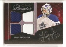 Jonas Gustavsson 2009-10 O-Pee-Chee Premier Gold Spectrum Patch Autograph 35/35