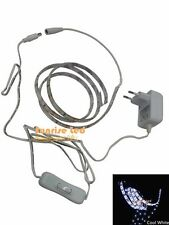 3528 Led Strip 1M 60 leds cool white water proof+12V0.5A adapter EU plug+switch