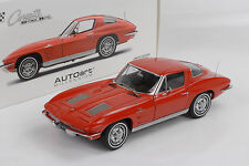 Chevrolet Corvette Sting Ray C2 Coupe 1963 riverside red  1:18 Autoart