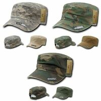 RapDom BDU Patrol Cadet Military Cotton Reversible Flat Camo Caps Cap Hat Hats
