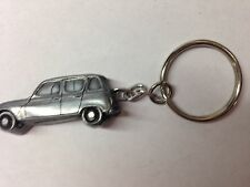 Renault 4 ref207 Pewter Effect Car Emblem On a SPLIT RING keyring