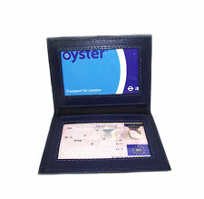 Persoanlised ID Blue leather card holder oyster licence Add your Text