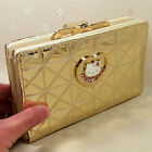 HelloKitty Hasp Crystals Wallet Purse 2016 New Cute Pu Gold Middle Size