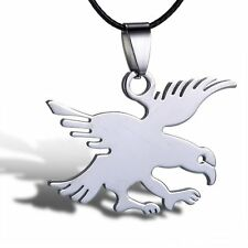Men Cool Fashion Leather Pendant Necklace Stainless Steel Eagle Jewelry New Gift