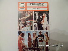 CARTE FICHE CINEMA 1966 NOTRE HOMME FLINT James Coburn Lee J Cobb Gila Golan