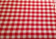 "Red Gingham Check Tablecloth Cloth 180cm 71"" ROUND Excellent Quality Cotton"