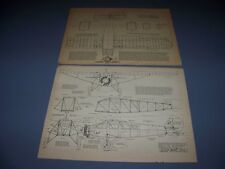 VINTAGE..1928 TRAVEL AIR 6000..4-VIEWS/CROSS SECTIONS...RARE! (859)