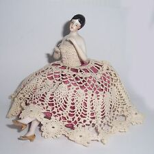 Stunning Art Deco Dressed Half Doll and Legs Boudoir Beauty Pin Cushion