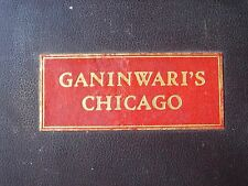 GANINWARI'S CHICAGO Scarce Map of Chicago SIGNED by Frank Chandler 645/1000
