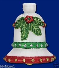 *Holiday Bell* [52074] Old World Christmas Glass Light Cover - NEW