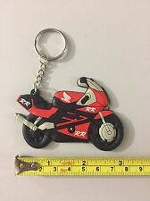 motorcycle keychain Rubber Honda RR Red