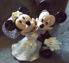 Dancing Mickey and Minnie Mouse Bride and Groom Wedding Cake Topper