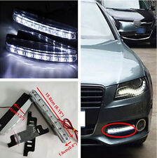 2x 12V 8-LED DRL Euro Style Front Bumper Grille Daytime Running Light For Lexus