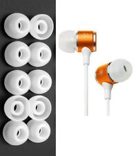 10-pack In-Ear Headphone Soft Silicone Earbud Tips - Medium Size, 11mm, White