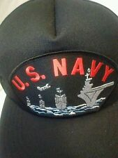 U.S NAVY SHIP MILITARY BALL CAP HAT Mesh Snapback Wide Brim Embroidered Patch