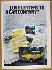 1979 Volvo 244 DL yellow sedan photo Letters from Owners vintage print Ad