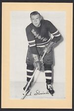 1945-1964 Beehive Group II 2 Hockey Ed Slowinski New York Rangers Single