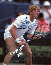 BORIS BECKER photo in action 1990 Lipton Int'l Players Championship (c)