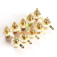 10Pcs Female Amplifier RCA Jack gold Sockets Connector Adapter for Amplifiers