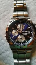 Seiko Quartz chronograph 7T62-OFYO 100m water resistant st steel Men's watch