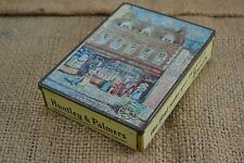 VINTAGE HUNTLEY PALMERS biscuit tin c.1960s original shop design