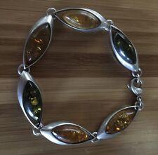 Nice Poland Amber Silver 925 Nice Bracelet