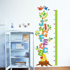 Alphabets Height Chart Removable Wall stickers Vinyl Decal Kids Nursery Decor