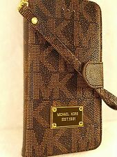 US Michael Kors iPhone 6 Plus JetSet Luxury MK Print Wallet Phone case Wristlet