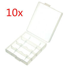 10 x Hard Plastic Blue White Case Cover Holder AA / AAA Battery Storage Box BEST