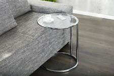 Design Table basse Chrome En Argent verre D'appoint REPRO Art Déco