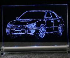 Subaru Impreza   AutoGravur auf LED-Leuchtschild sign